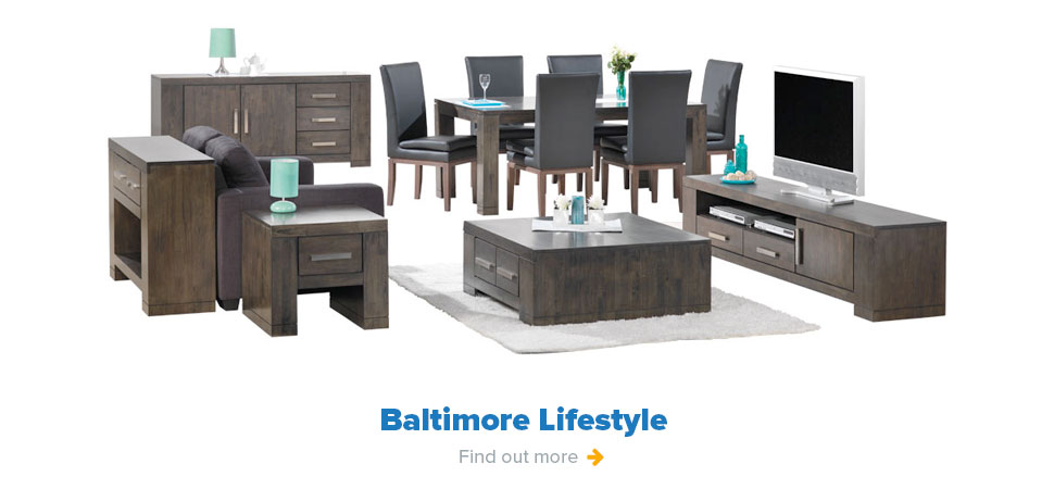 Baltimore Lifestyle - TV Dining, Coffee Lounge and Sideboard Table Buffet