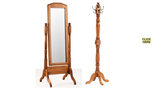 MACEDON Cheval Mirror & Hat Stand